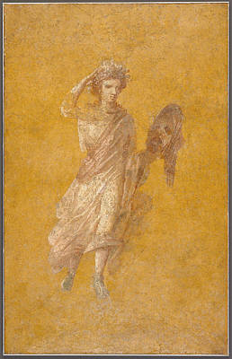 Wall Fragment Of A Muse, 1-75 Ad  Art Print by Roman School