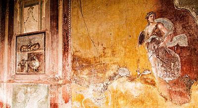 Photograph - Wall Fresco In Pompeii by Weston Westmoreland