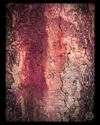 Mixed Media - Wall Fresco In Rusty Wine by Absinthe Art By Michelle LeAnn Scott