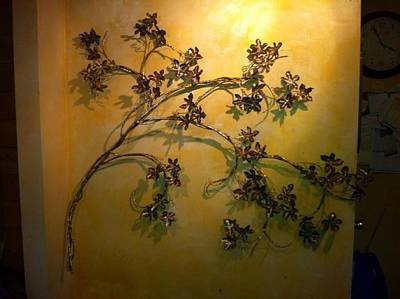 Wall Grapevines 2 Original by Kelly Smith Cassidy