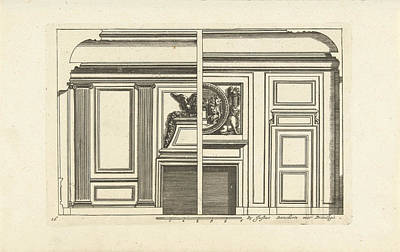 Wall Layout, Interior, Decoration, Design Print by Jean Lepautre And Justus Danckerts