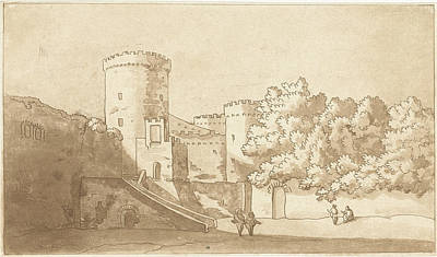 Wall Of A Castle With Towers, Print Maker Anthonie Van Den Art Print by Artokoloro