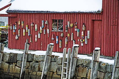Shack Photograph - Wall Of Buoys Motif #1 by Donna Doherty