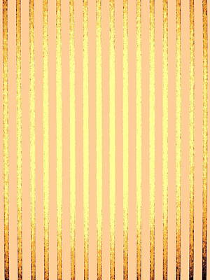 Runway Fashion Art Painting - Wall Of Gold by Dietmar Scherf