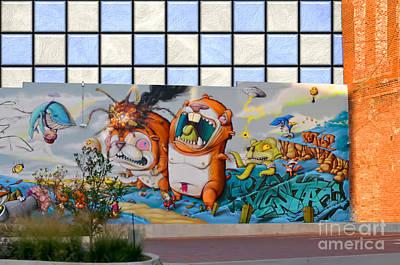 Photograph - Wall Of Graffiti by Liane Wright