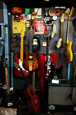 Photograph - Wall Of Guitars by Christopher Holmes