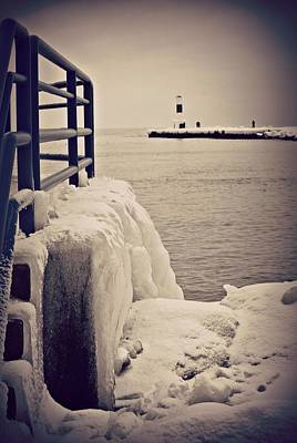 Lighthouse Photograph - Wall Of Ice by Dawdy Imagery
