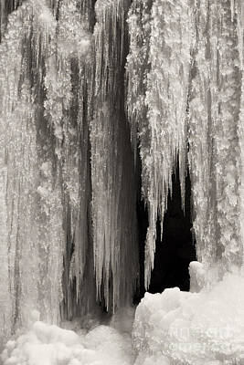 Photograph - wall of ice in Partnach gorge 19 by Rudi Prott