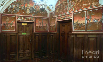 Photograph - wall paintings in the university of Vilnius 1 by Rudi Prott