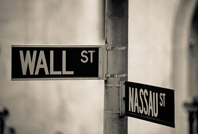 Photograph - Wall Street And Nassau by Matthew Pace