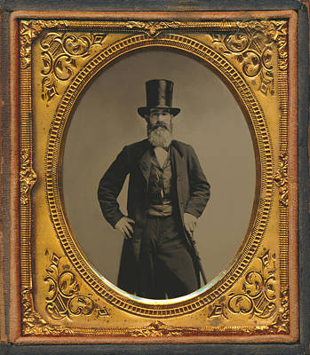 Photograph - Wall Street Broker Tintype by Paul Ashby Antique Image
