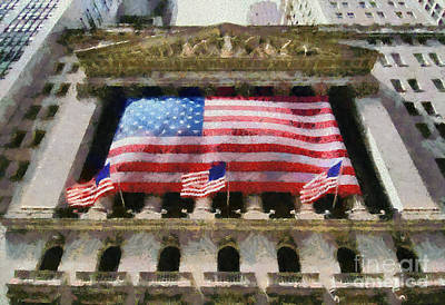 Painting - New York Stock Exchange by George Atsametakis