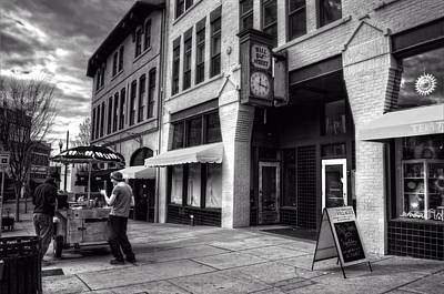 Photograph - Wall Street Hot Dogs In Asheville Nc by Greg Mimbs