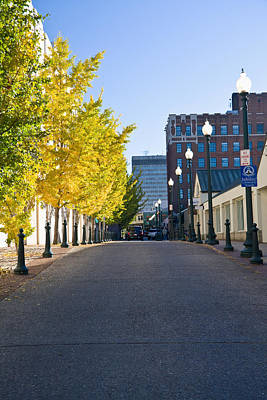 Photograph - Wall Street In Downtown Asheville by Melinda Fawver