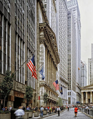 Wall Street In New York City Art Print by Mountain Dreams