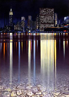 Painting - Wall Street by Miki Karni