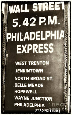 Of Artist Photograph - Wall Street Philadelphia Express by John Rizzuto