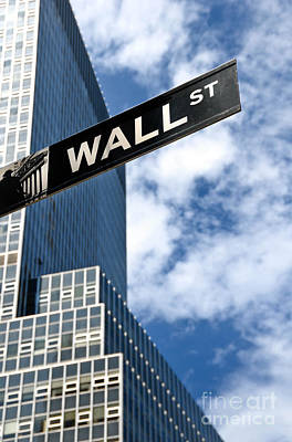 Wall Street Street Sign New York City Print by Amy Cicconi