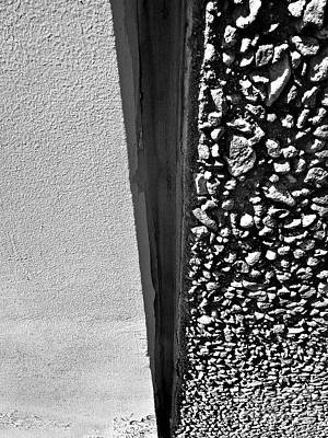 Photograph - Wall Texture B W by Fei A