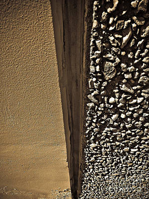 Photograph - Wall Texture Beige by Fei A