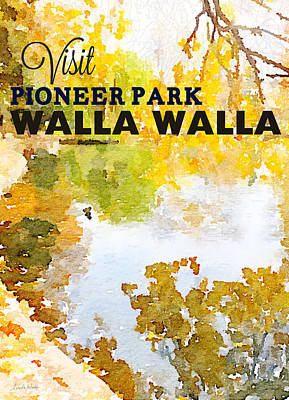Postcards Painting - Walla Walla by Linda Woods