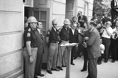 University Of Alabama Photograph - Wallace Blocks Integration by Warren K Leffler