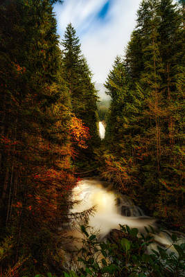 Wallace Fall North Fork Art Print