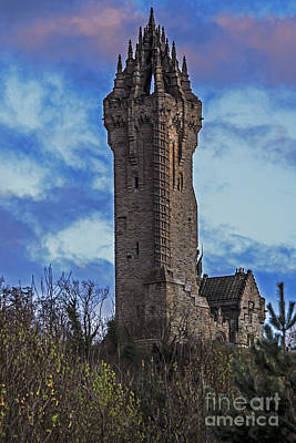 Wallace Monument During Sunset Art Print