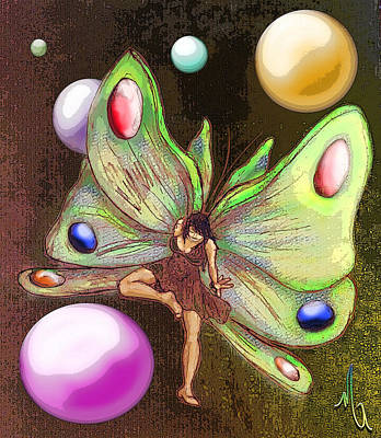 Wallflower Fairy Art Print by Michelle Rene Goodhew