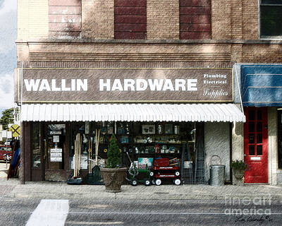 Photograph - Wallin Hardware by Lee Owenby