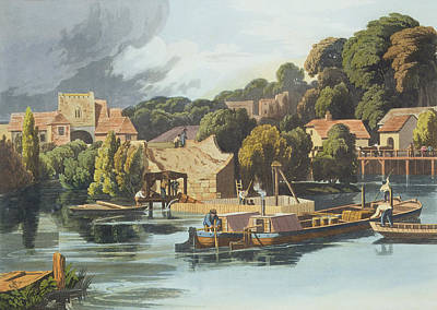 Industrial Drawing - Wallingford Castle In 1810 During by William Havell