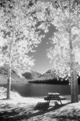 Photograph - Wallowa Lake Infrared by Ken Dietz