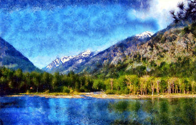 Digital Art - Wallowa Lake by Kaylee Mason