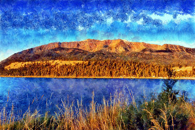 Digital Art - Wallowa Mountains by Kaylee Mason