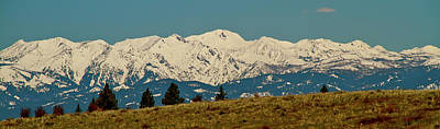 Wallowa Mountains Oregon Art Print by Ed  Riche