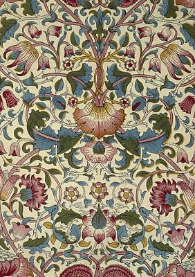 Digital Art - Wallpaper Design by William Morris