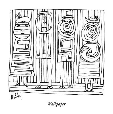 Modern Abstract Drawing - Wallpaper by William Steig