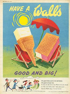 Ice Drawing - Walls 1950s Uk Ice-cream by The Advertising Archives