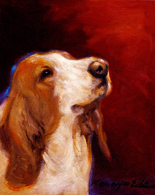 Painting - Wally - Dog Portrait Art by Kanayo Ede