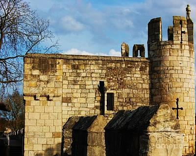 Walmgate Tower, York, England Print by Courtney Dagan