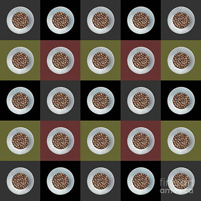 Walnut 5x5 Collage 2 Art Print by Maria Bobrova