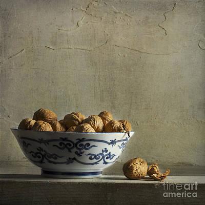 Walnuts Art Print by Elena Nosyreva