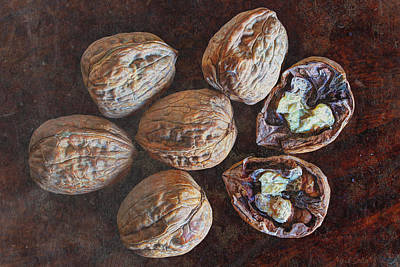 Handcrafted Photograph - Walnuts  by Heidi Smith