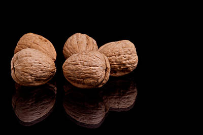 Photograph - Walnuts by Marek Poplawski