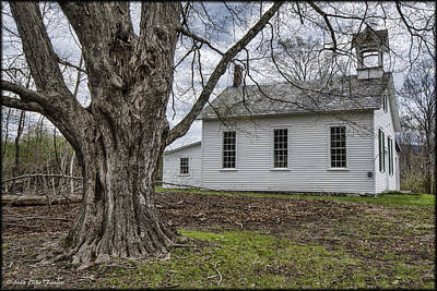Photograph - Walpack Church by Erika Fawcett