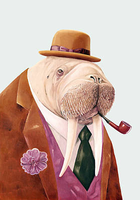 Animal Art Painting - Walrus by Animal Crew