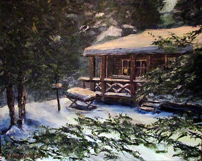 Painting - Walsh Cabin On Cranberry Lake by Denny Morreale