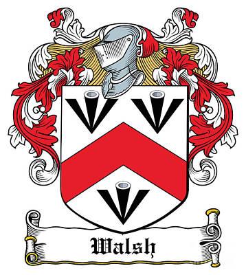 Walsh Digital Art - Walsh Coat Of Arms Kilkenny Ireland by Heraldry