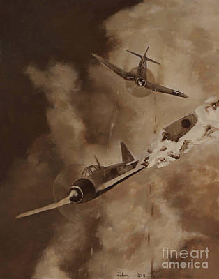 Corps Painting - Walsh Scores Another - Grisaille by Stephen Roberson