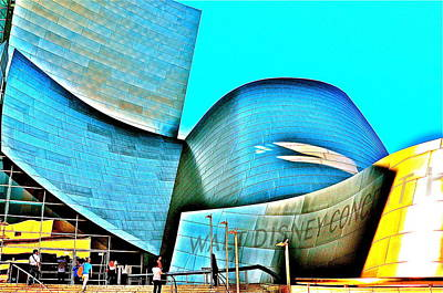 Photograph - Walt Disney Concert Hall by Joe  Burns